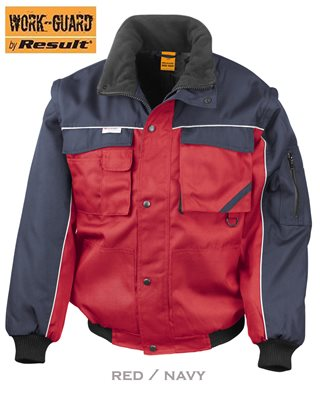Result® Work Guard Zip Sleeve Heavy-Duty Pilot Jacket